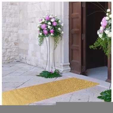 3 meter gouden glitter loper 1 meter breed