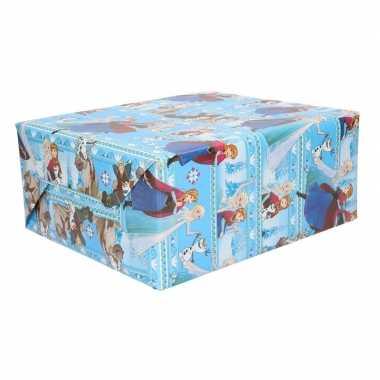 3 rollen blauwe kadopapier frozen