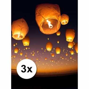 3 stuks voordeel wensballonnen 50 x 100 cm