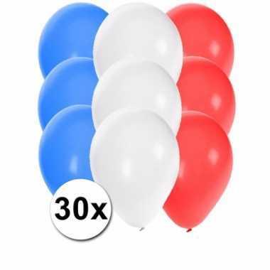 30 stuks party ballonnen in de franse kleuren