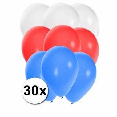 30 stuks party ballonnen in de sloveense kleuren