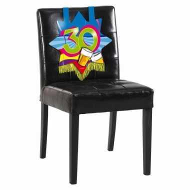 30e verjaardag stoel decoratie