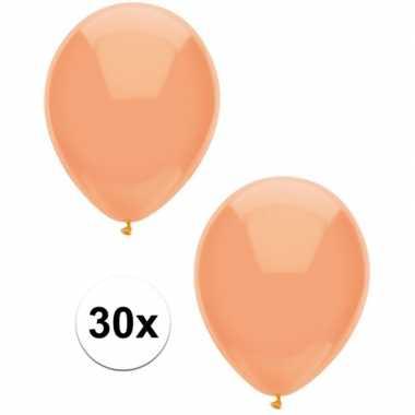 30x perzik oranje metallic ballonnen 30 cm