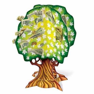 3d geldboom van karton