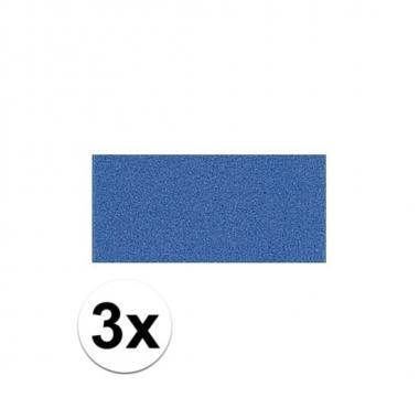 3x blauwe crepla plaat met 20 x 30 x 0 2 cm trend
