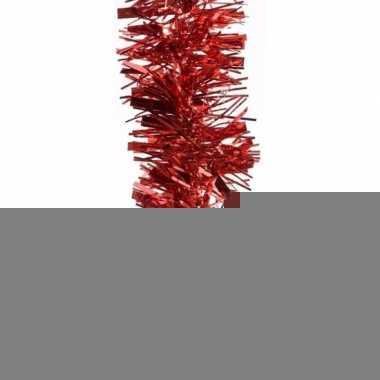 3x kerstboom folie slinger rood 200 cm