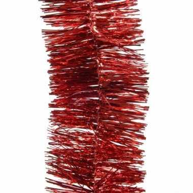 3x kerstboom folie slinger rood 270 cm