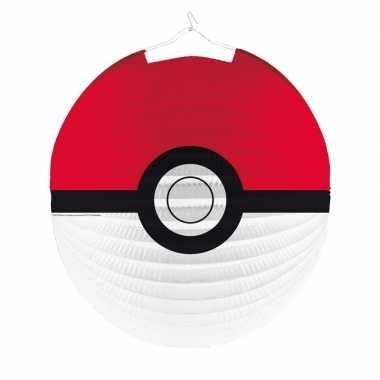 3x pokemon thema lampionnen poke ball 25 cm