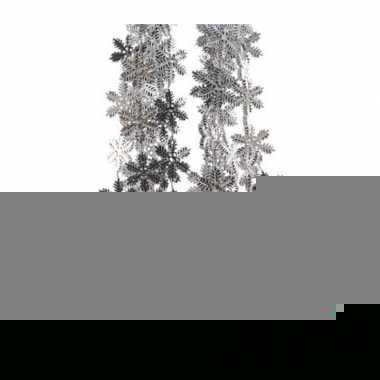 3x sneeuwvlok slinger zilver 270 cm