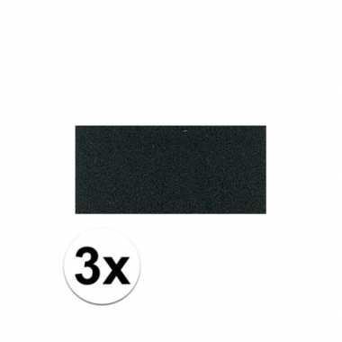 3x zwarte crepla plaat met 20 x 30 x 0 2 cm trend