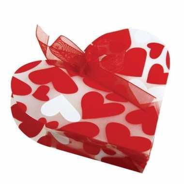 4 geschenkzakjes met hartjes