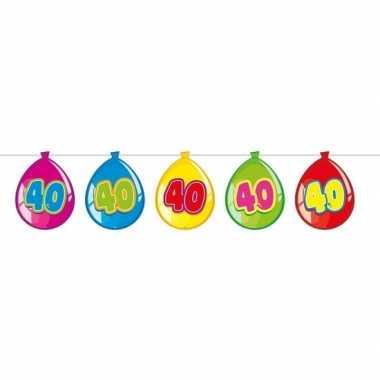 40 jaar leeftijd versiering ballon slinger 10 meter