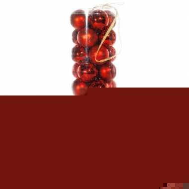40 rode kerstballen van plastic