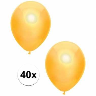 40x gele metallic ballonnen 30 cm