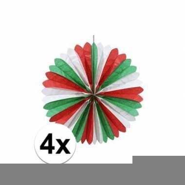 4x italiaanse waaiers versiering 60 cm