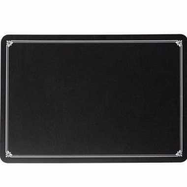 4x krijtbord placemat 45 x 30 cm