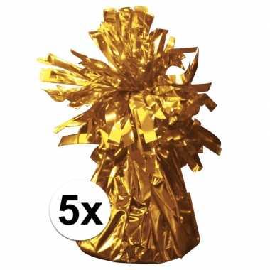 5 ballongewichten goud 170 gr