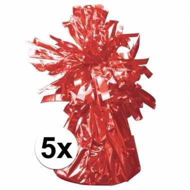 5 ballongewichten rood 170 gr