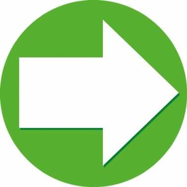 5x accent pijl sticker groen
