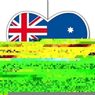 5x australie hangdecoratie harten 28 cm