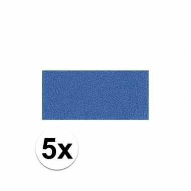 5x blauwe crepla plaat met 20 x 30 x 0 2 cm trend
