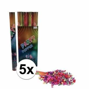 5x confetti shooters multi-color 60 cm