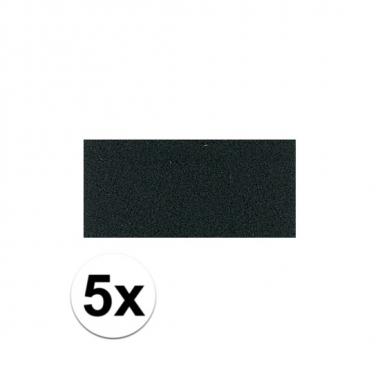 5x zwarte crepla plaat met 20 x 30 x 0 2 cm trend