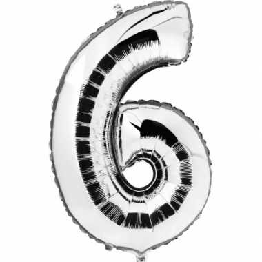 6 jaar versiering cijfer ballon