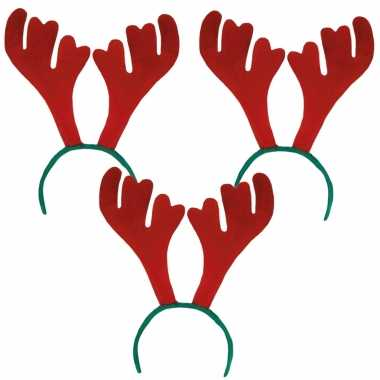 8x stuks rendier diadeem/haarband voor volwassenen kerstaccessoires