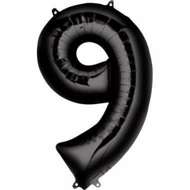 9 jaar versiering cijfer ballon zwart