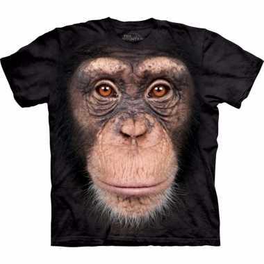 Aap t-shirt chimpansee voor volwassenen