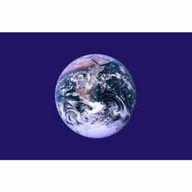 Aarde vlag van polyester 150 x 90
