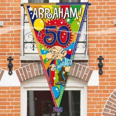 Abraham 50 jaar mega puntvlag