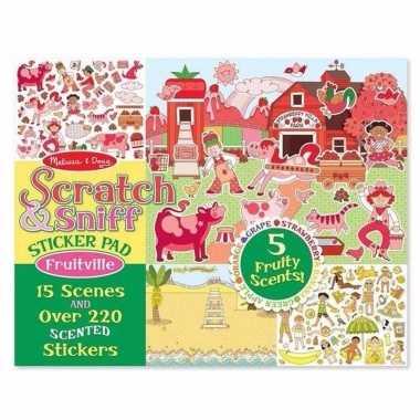 Agenda fruit stickers met geur
