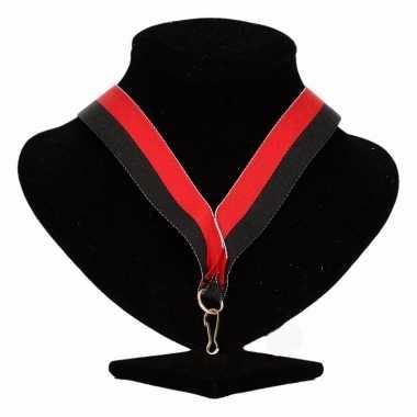 Ajax medaille halslint zwart rood trend