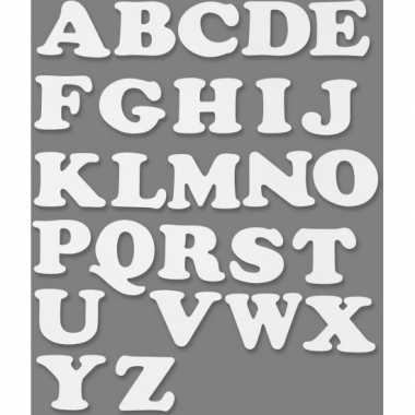 Alfabet wit karton 3 sets