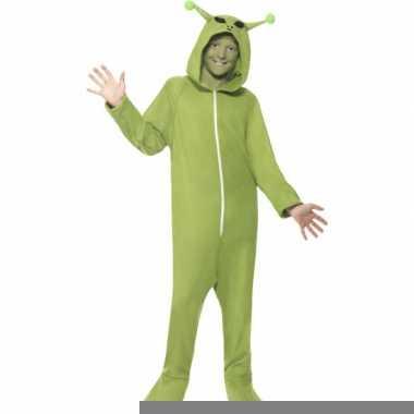 Alien jumpsuit groen voor kids