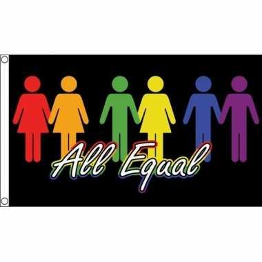 All equal vlag 150 x 90 cm