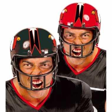 American football carnaval helm rood