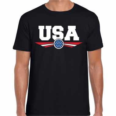 Amerika / america / usa landen t-shirt zwart heren