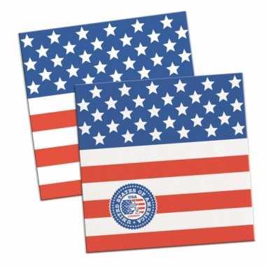 Amerikaanse feest servetten 60 stuks