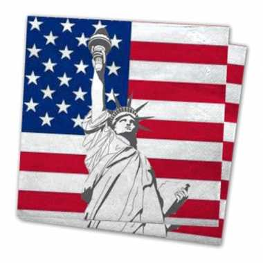 Amerikaanse thema servetten 40 st