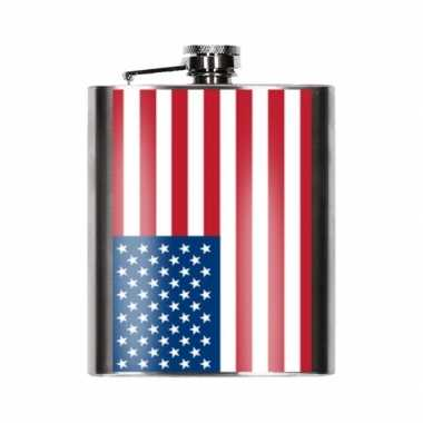 Amerikaanse vlag heupfles 200 ml