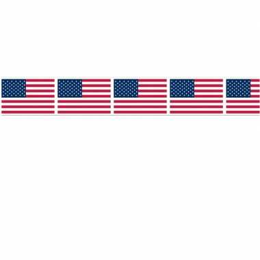 Amerikaanse vlag party tape 6 meter