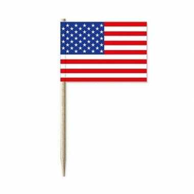 Amerikaanse vlaggen prikkertjes 100x