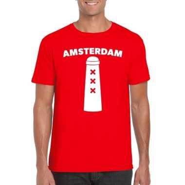 Amsterdammertje shirt rood heren