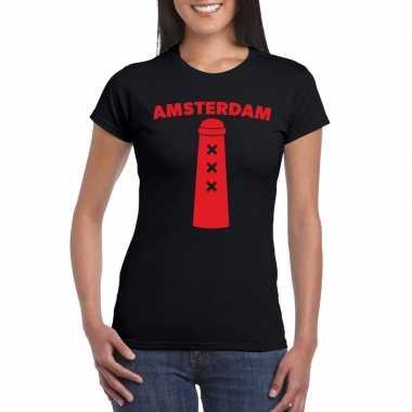 Amsterdammertje shirt zwart dames