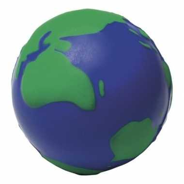 Anti-stressbal wereldbol 6,5 cm