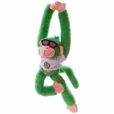 Apen knuffeldieren groen 40 cm