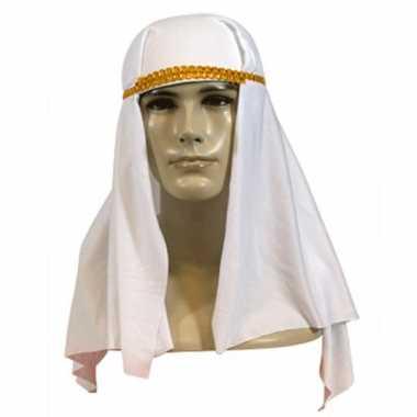 Arabieren hoofddoeken in de kleur wit